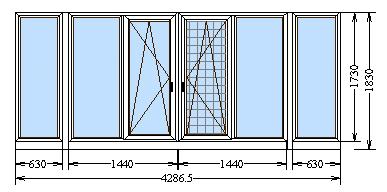 Типовые решения по остеклению балконов и лоджий.